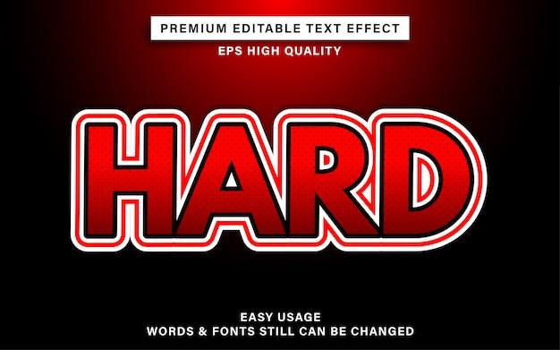 Hard teksteffect