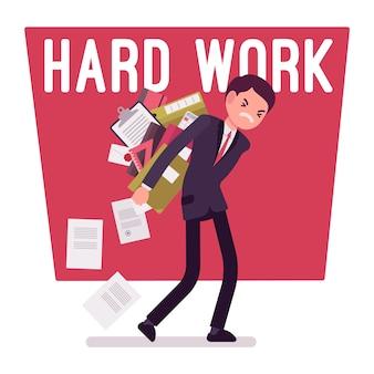 Hard werken man