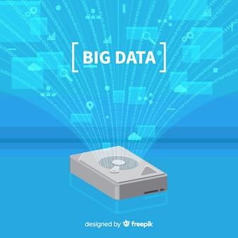 Harde schijf big data-achtergrond