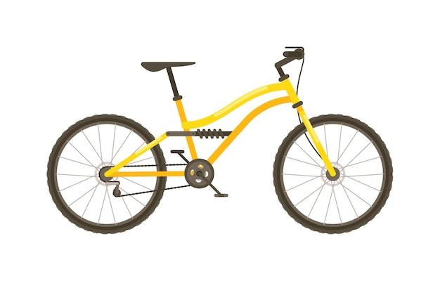 Hardtail mountainbike vector geïsoleerd op witte achtergrond