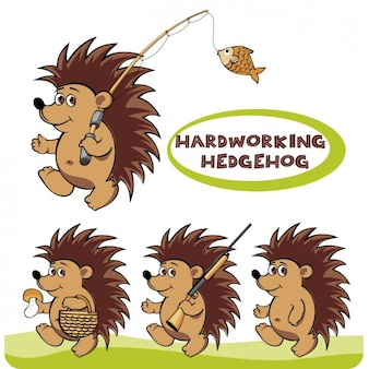 Hardwerkende hedgehog illustratie