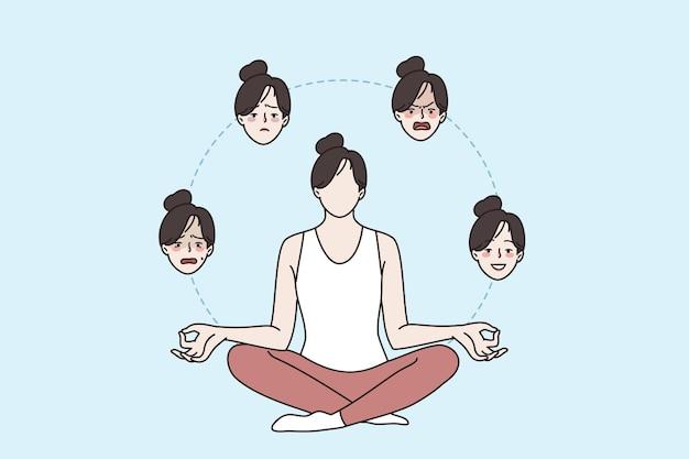 Harmonie en geestelijke gezondheid concept