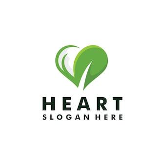 Hart blad natuur logo vector pictogram illustratie