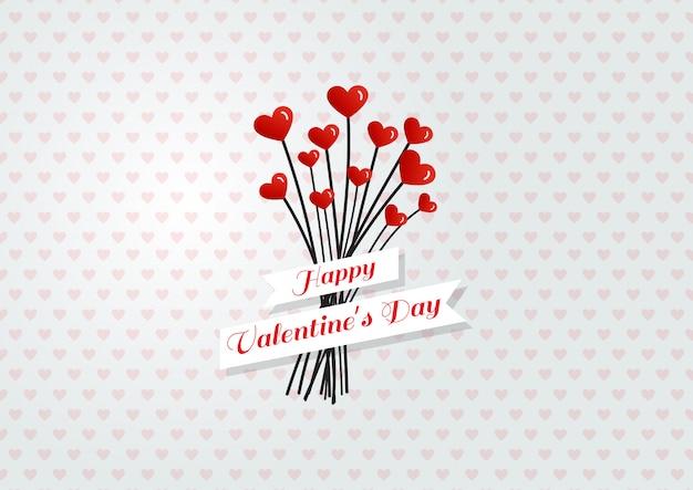 Hart bloemen valentijnsdag