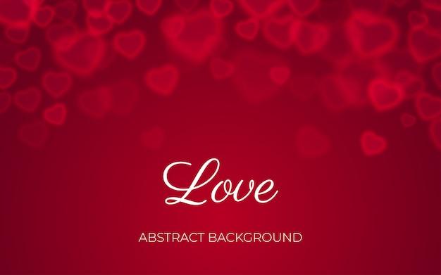 Hart bokeh rode abstracte achtergrond