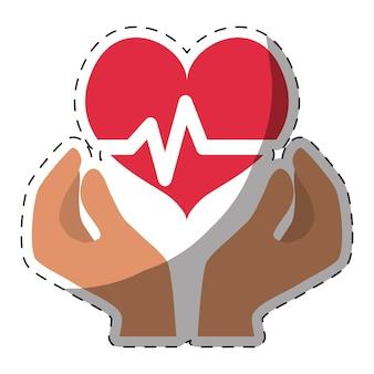 Hart cardiogram gezondheid pictogramafbeelding