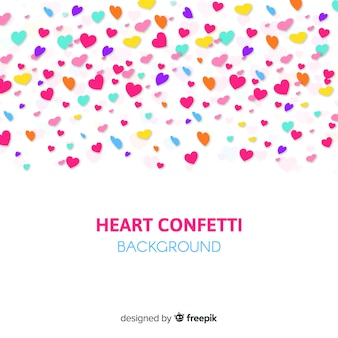 Hart confetti achtergrond