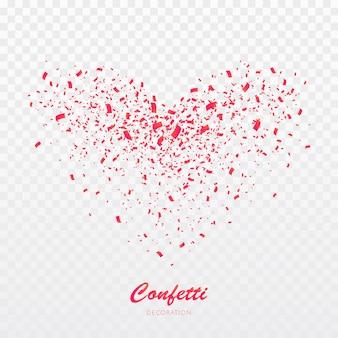 Hart confetti explosie.