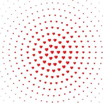 Hart halftone kleur achtergrond. valentijnsdag en huwelijk uitnodigingskaart, romantiek en liefde. illustratie