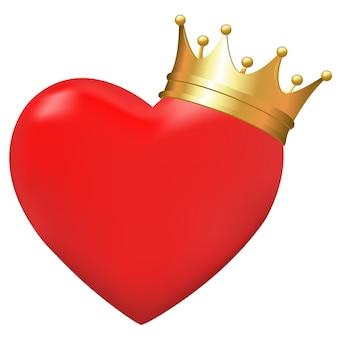 Hart in kroon