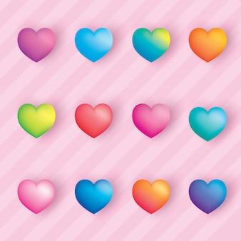 Hart kleurrijk
