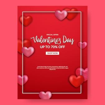 Hart liefde vorm decoratie frame uitnodigingskaart.
