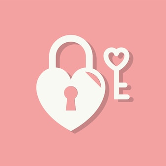 Hart lock valentijnsdag pictogram