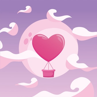 Hart luchtballon