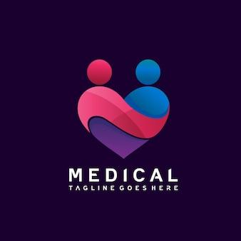 Hart medisch logo-ontwerp
