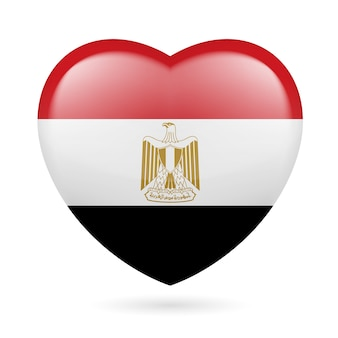 Hart met egyptische vlagkleuren ik hou van egypte