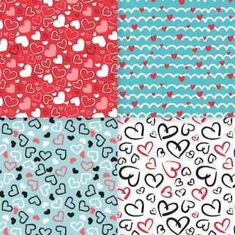 Hart patroon collectie design