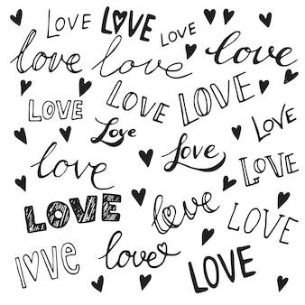 Hart set, vector iconen voor uw ontwerp. kan worden gebruikt voor huwelijksuitnodiging, kaart voor valentijnsdag of kaart over liefde.