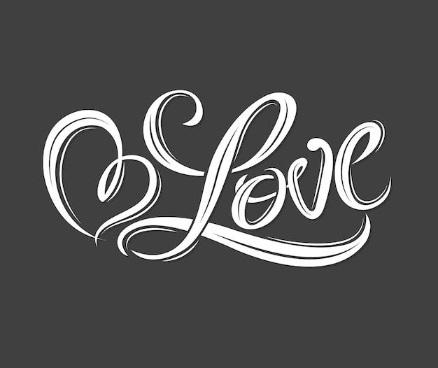 Hart voor liefde voor liefde concept valentine en bruiloft kaart.