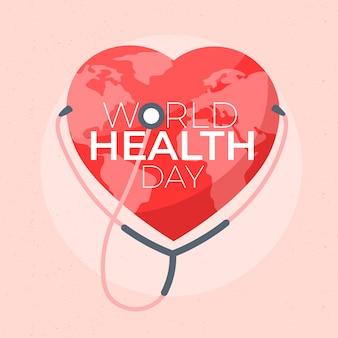 Hart wereld gezondheid dag achtergrond