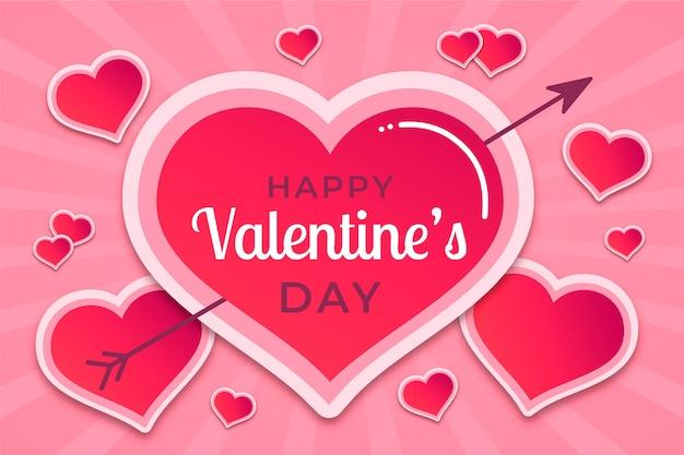 Hartachtergrond voor valentijnskaartdag