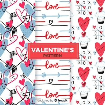 Harten en cupcakes valentijn patroon collectie