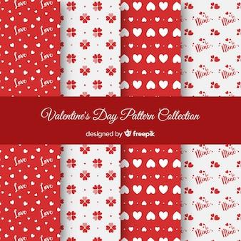 Harten en stippen valentijn patronen
