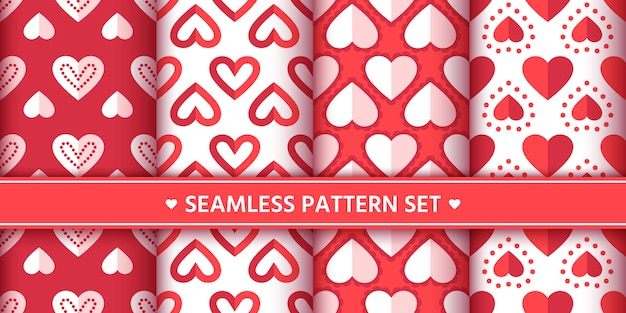 Harten naadloze patroon set