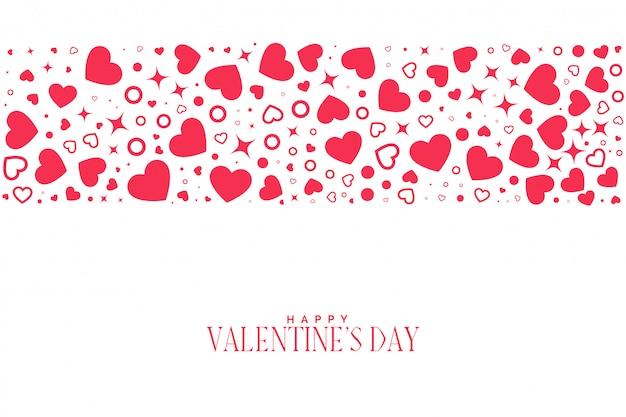 Harten patroon achtergrond voor valentijnsdag