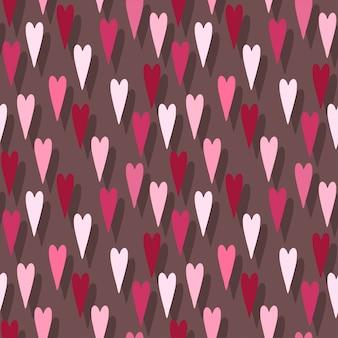 Harten patroon achtergrond