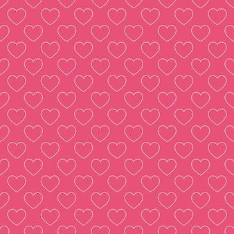 Harten patroon. valentijnsdag achtergrond voor vakantie sjabloon. creatieve en luxe stijlillustratie