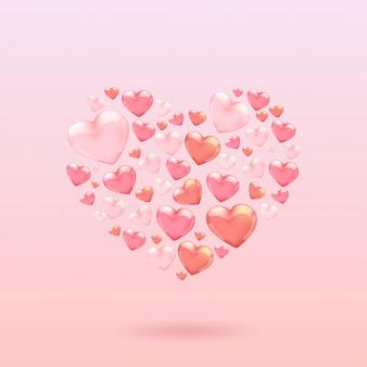 Harten valentijn illustratie
