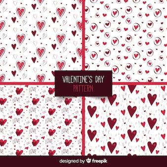 Harten valentijnsdag patroon