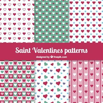 Harten valentijnskaart van heilige patroon
