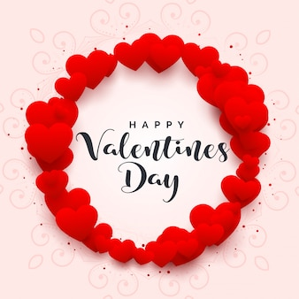 Hartenkader voor gelukkige valentijnskaartendag
