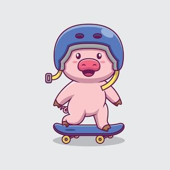 Hartje skateboarden cartoon afbeelding