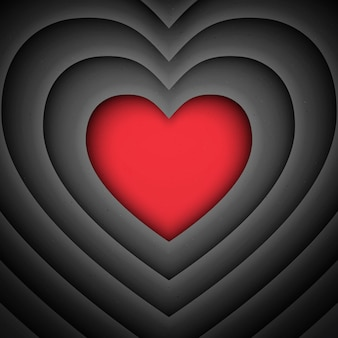 Hartvorm valentijnsdag retro achtergrond