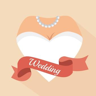 Hartvorm vrouw brief bruiloft