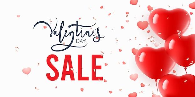 Hartvormige ballon voor valentijnsdag verkoopontwerp