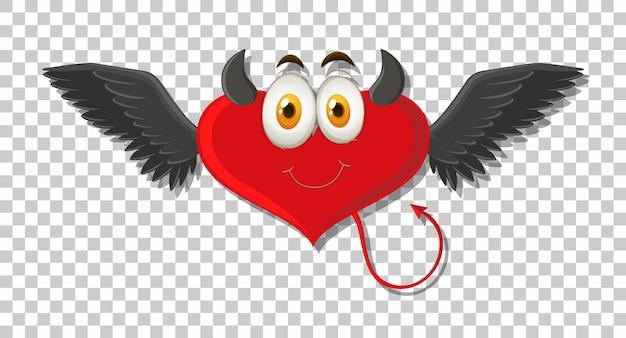 Hartvormige duivel met gezichtsuitdrukking