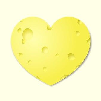 Hartvormige kaas als symbool van valentijnsdag