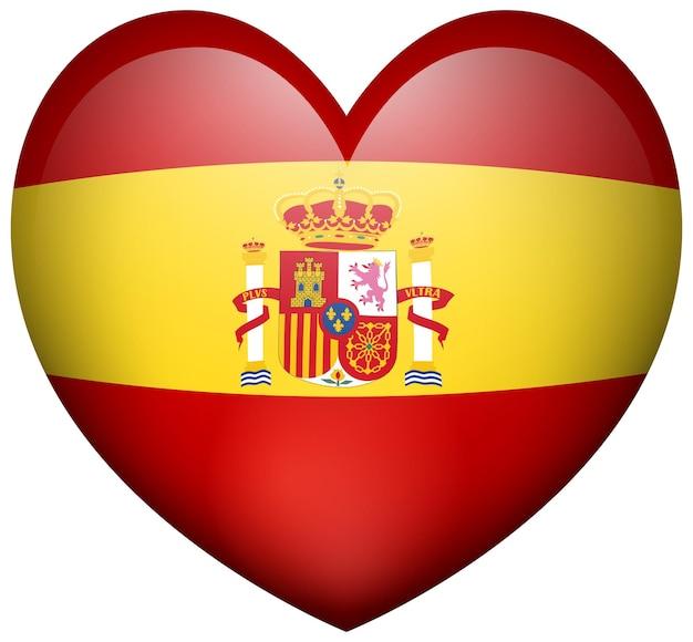 Hartvormpictogram voor de vlag van spanje