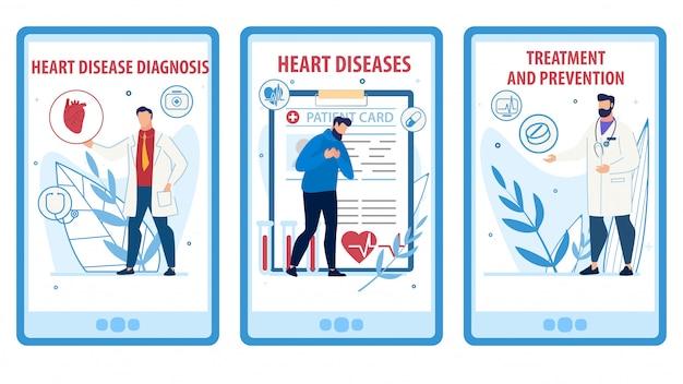 Hartziektepreventie en behandeling webpagina set