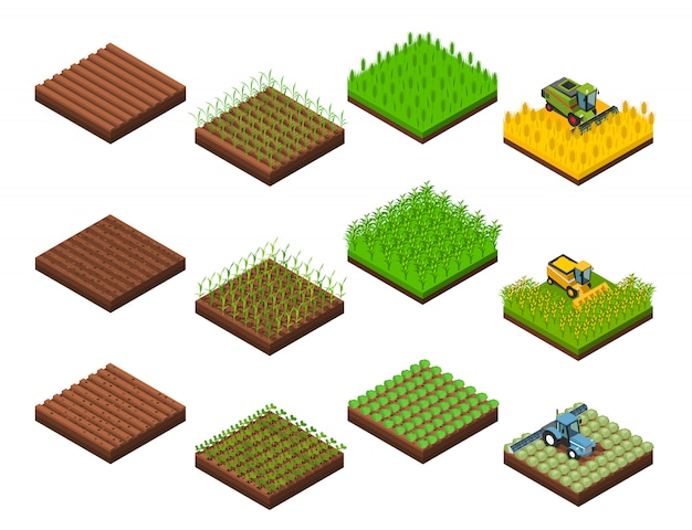 Harvest work elements set