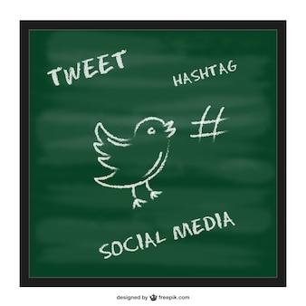 Hashtag schoolbord template
