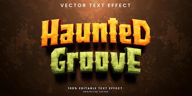 Haunted groove bewerkbaar teksteffect