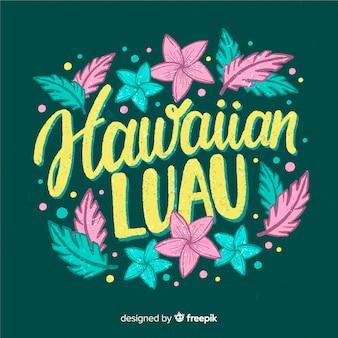 Hawaiiaanse luauachtergrond
