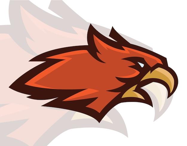 Hawk hoofd mascot