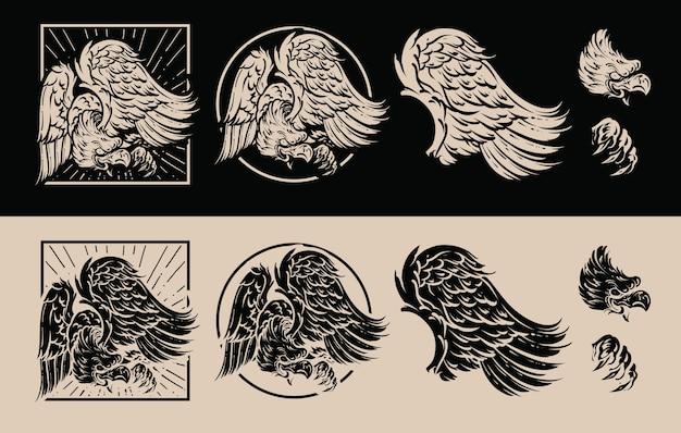 Hawk illustratie pack ontwerp
