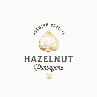 Hazelnoot leveranciers abstract teken, symbool of logo